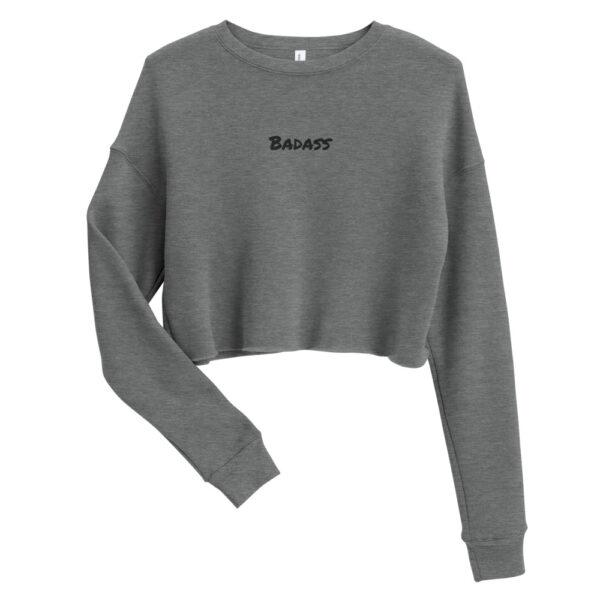 Badass-Embroidery-Cropped-Sweatshirt-grey