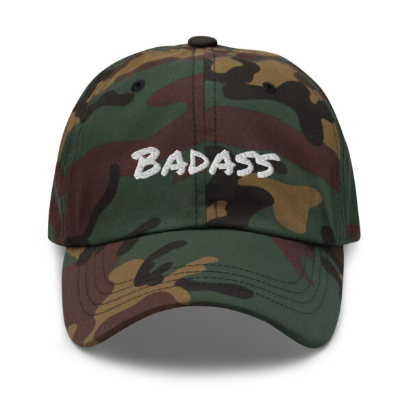 Badass Cap embroidery, embroidered cap, be a badass