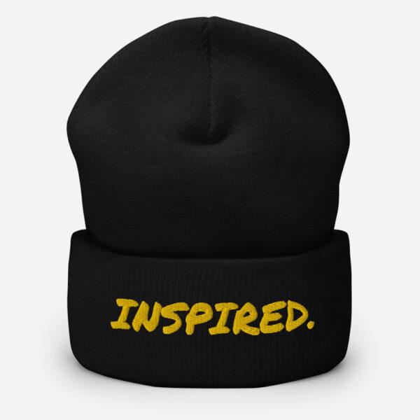 inspired beanie, black beanie hat, inspirational beanie
