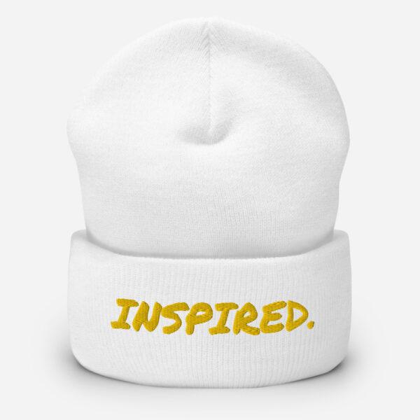 inspired beanie, white beanie, inspirational beanie hat,