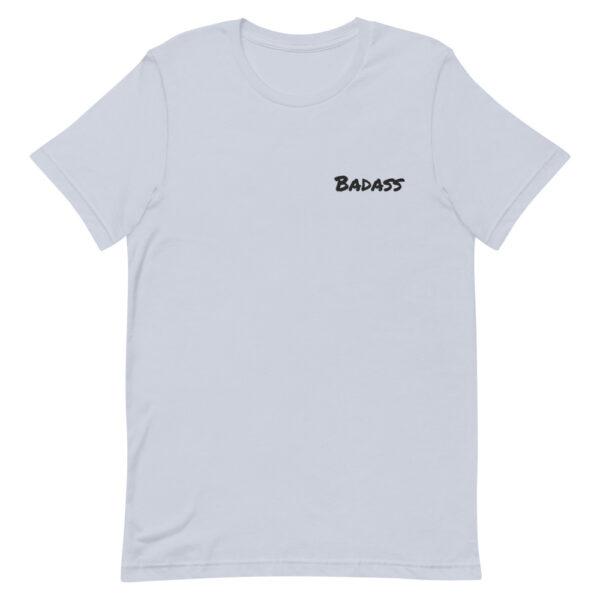 badass t-shirt, slogan t-shirt, be a badass, blue t-shirt, premium t-shirt