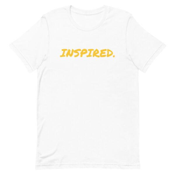 Inspired t-shirt. White t-shirt. female empowerment t-shirt.