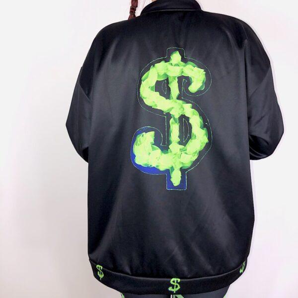 Dollar Glow Sign Bomber Jacket